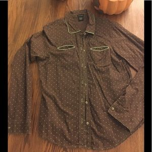 FANG Cotton Junior Chocolate ButtonUp